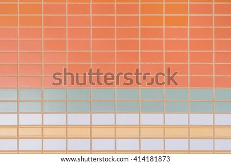 mosaic Tile wall texture Abstract for background.