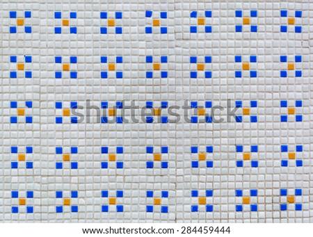 mosaic wall tiles - stock photo