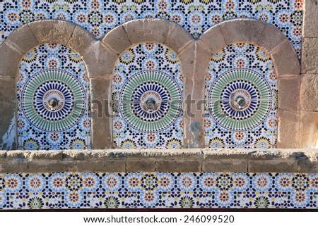 mosaicsb essaoira port of morocco  - stock photo
