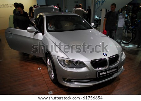 MOSCOW - AUG 26: BMW 335i xDrive at Moscow international motor show 2010 on August 26, 2010 in Moscow, Russia.