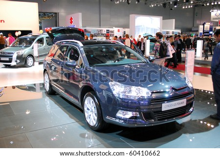 MOSCOW - AUG 26: Citroen C5 tourer The Moscow international motor show 2010 on August 26, 2010 in Moscow, Russia.