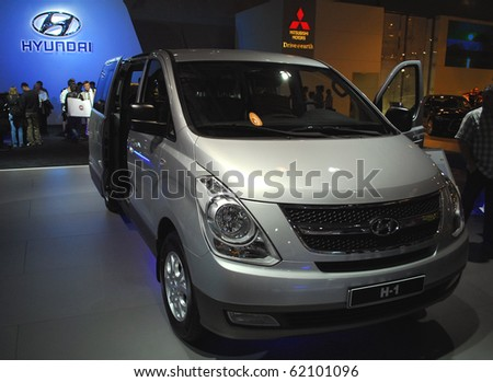 MOSCOW - AUG 26: Hyundai  H1 The Moscow international motor show 2010 on August 26, 2010 in Moscow, Russia.