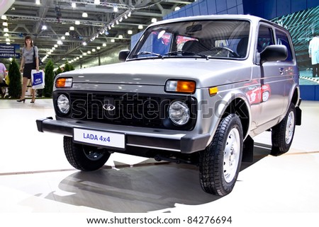 MOSCOW - AUGUST 25: Lada 4x4 Niva at the international exhibition of  the auto and components industry, Interauto on August 25, 2011 in Moscow