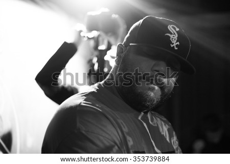 MOSCOW - 19 DECEMBER, 2015 : Concert of famous hip hop producer from Detroit, USA Erik Stephens known as Apollo Brown