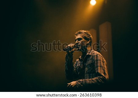 MOSCOW - 7 DECEMBER, 2014 : Matisyahu performing live at Glavclub  - stock photo