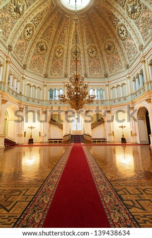 Kremlin Palace Inside Kremlin Palace is shown on