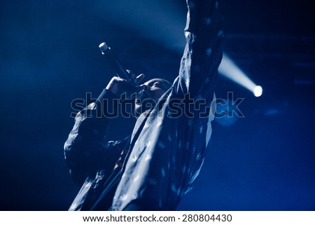 MOSCOW - 20 FEBRUARY, 2015 : Dope D.O.D performing at Ray Just Arena nightclub in Russia - stock photo