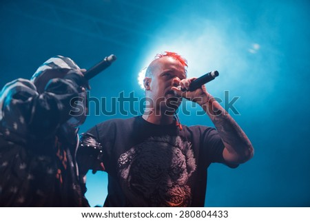 MOSCOW - 20 FEBRUARY, 2015 : Dope D.O.D performing at Ray Just Arena nightclub in Russia