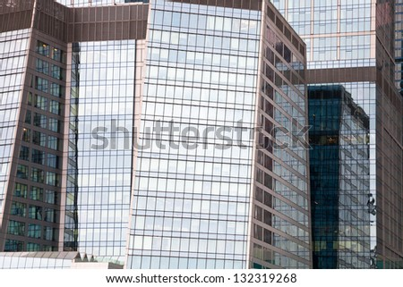 MOSCOW - FEBRUARY 27: modern business center. The Moscow City become first zone in Russia to combine business activity, living space and entertainment in one development in Moscow on February 27, 2013