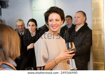 MOSCOW - JANUARY, 28: Anna Zvyagintseva. Premiere of the movie Leviathan at Moscow Cinema,  January, 28, 2015 in Moscow, Russia - stock photo