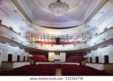 MOSCOW - JANUARY 27: Empty hall in Palace on Yauza on January 27, 2012 in Moscow, Russia. Building of the palace on Yauza was built in 1903 by decision of City Council. - stock photo