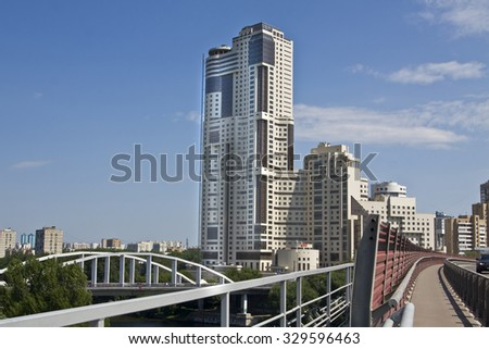 "MOSCOW - JULY 02 2011: modern building ""Continental"", has been built in 2011 on prospectus Zhukova street, consists 48 floors."
