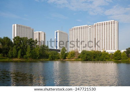 MOSCOW - JULY 24: Tourist hotel complex in Izmailovo on July 24, 2014 in Moscow. - stock photo