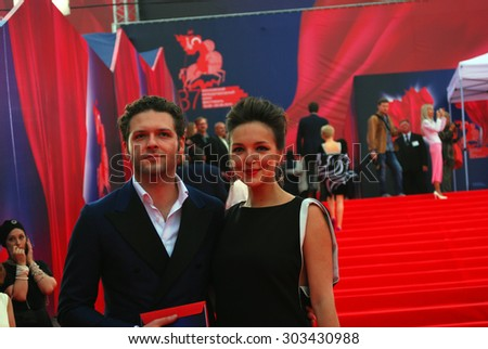 MOSCOW - JUNE 19, 2015: Actor Konstantin Kryukov at XXXVII Moscow International Film Festival red carpet opening ceremony.
