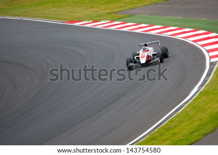 MOSCOW - JUNE 23: Alex Baron of Art Junior Team (FRA) race at Formula Renault 2.0 race at World Series by Renault in Moscow Raceway on June 23, 2013 in Moscow - stock photo