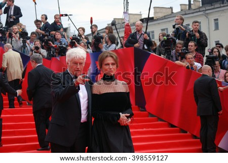 MOSCOW - JUNE 19, 2015: Jury members of XXXVII Moscow International Film Festival red carpet opening ceremony.