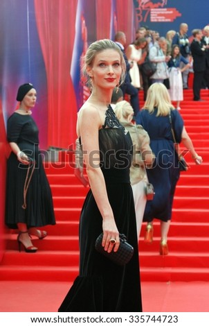 MOSCOW - JUNE 19, 2015: Svetlana Ivanova at XXXVII Moscow International Film Festival red carpet opening ceremony.