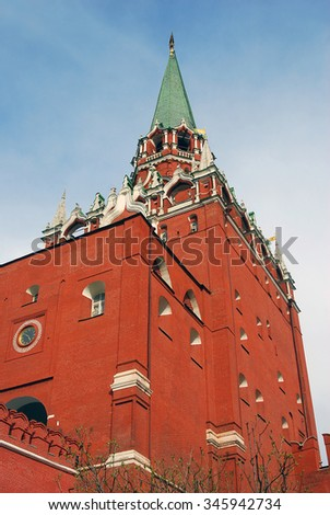 Moscow Kremlin. UNESCO World Heritage Site. - stock photo