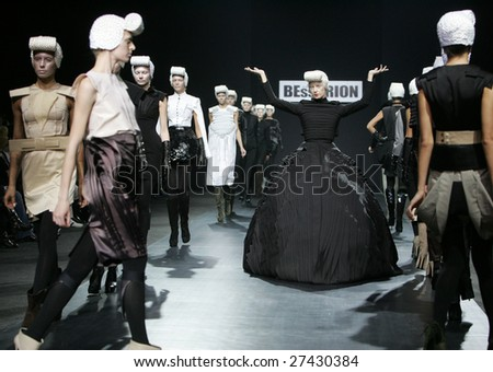 MOSCOW - MARCH 25: Models walk the runway during the Saint Bessarion Collection as part of Fashion Week, March 25, 2009 in Moscow, Russia.