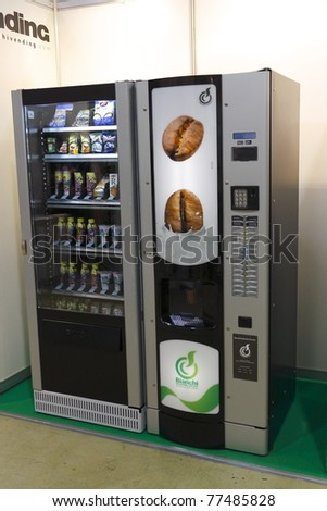 MOSCOW - MARCH 24: 5th International Specialized Exhibition of vending equipment and technology on March 24, 2011 in Moscow