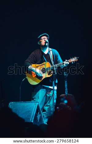MOSCOW - 7 November, 2014 : Everlast (ex House of Pain frontman) singing in RED Club - stock photo
