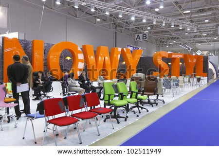 MOSCOW  NOVEMBER 25: Stand Office Furniture NOWY STYL Ukrainian Companies  At The International Exhibition