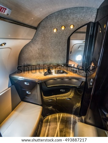 Stock images royalty free images vectors shutterstock for Private jet bathroom