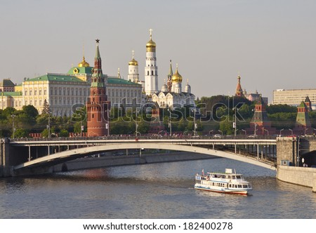Moscow river. Kremlin. - stock photo