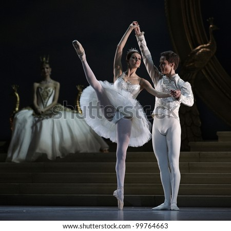 MOSCOW, RUSSIA - APRIL 2: Show of Mikhailovsky theater ballet during Golden Mask contest. ?horeographer Nacho Duato. April 2, 2012 in Moscow, Russia.