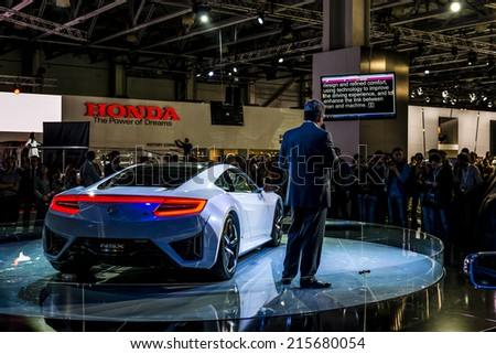 MOSCOW, RUSSIA - August 26: Acura cars presentation at MIAS 2014 in Moscow, 26 August 2014