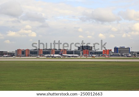 Moscow, Russia - August 28, 2014: Airport Sheremetyevo.
