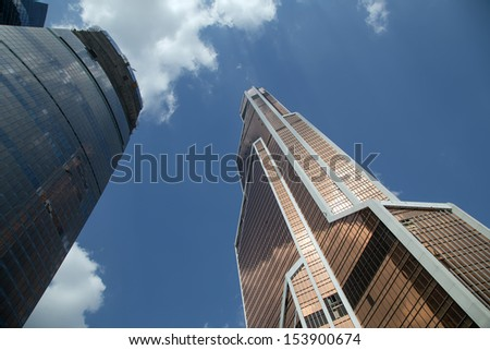 MOSCOW, RUSSIA- AUGUST 08: August 08, 2013. Skyscrapers of the International Business Center (City), Moscow, Russia