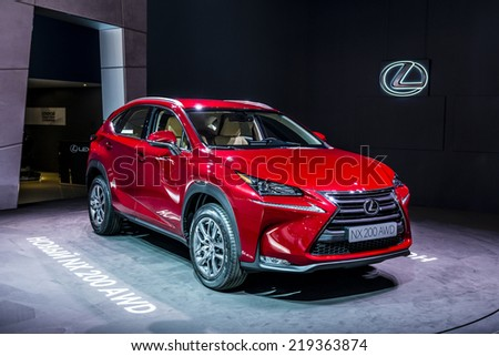 MOSCOW, RUSSIA - August 26: Lexus Cars at MIAS 2014 in Moscow, 26 August 2014 - stock photo