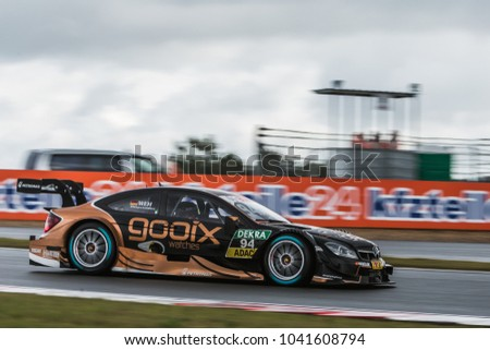 Moscow, Russia - August 29, 2015: Pascal Wehrlein driver of Mercedes-AMG DTM Team HWA at DTM stage at Moscow Raceway