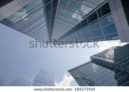 MOSCOW, RUSSIA- AUGUST 08, 2013: Skyscrapers of the International Business Center (City), Moscow, Russia