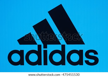 MOSCOW, RUSSIA-AUGUST 28: The logo of the world famous brand adidas in