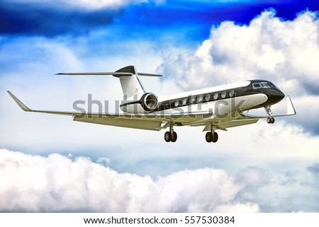 moscow russia circa 2016 gulfstream g650 jet engine business corporate private executive luxury
