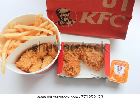 Kfc chicken stock images royalty free images vectors - Kentucky french chicken ...