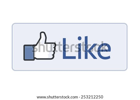 MOSCOW, RUSSIA - FEBRUARY 14, 2015: Facebook like logo for e-business, web sites, mobile applications, banners, corporate brochures, book covers, etc on white background