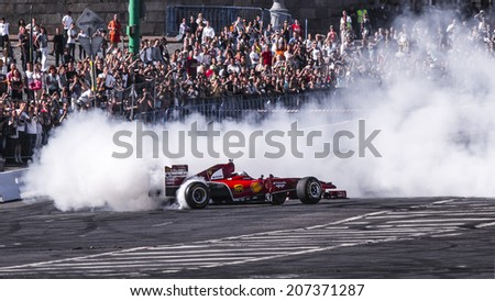MOSCOW, RUSSIA - JULY 12: Amazing Moscow City Racing Show, Moscow on 12 July 2014
