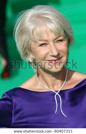 MOSCOW, RUSSIA - JULY 2: Dame Helen Mirren arrives at the closing ceremony of the Moscow International film festival on July 2, 2011 in Moscow, Russia. - stock photo