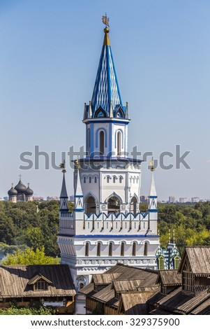 MOSCOW, RUSSIA - JULY 26, 2015: Izmailovo Kremlin in city Moscow.