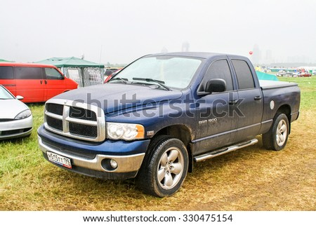 MOSCOW, RUSSIA - JULY 10, 2011: Off-road vehicle Dodge Ram 1500 at the countryside.