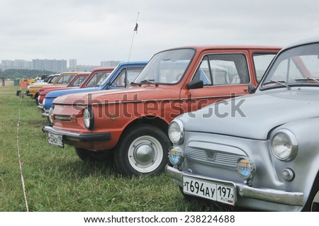 MOSCOW, RUSSIA - July 5, 2011: The number Soviet of cars ZAZ Zaporozhets the exhibition Autoexotics-2011, Moscow
