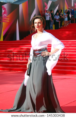 MOSCOW, RUSSIA - JUNE 20: Former ballerina and currently an actress Alisa Khazanova at XXXV Moscow International Film Festival red carpet opening ceremony. Taken on June 20, 2013 in Moscow, Russia.