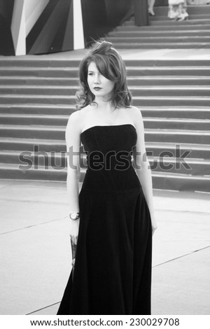 MOSCOW, RUSSIA - JUNE 20: TV presenter Anna Chapman at XXXV Moscow International Film Festival red carpet opening ceremony. Taken on 20.06.2013 in Moscow, Russia. - stock photo