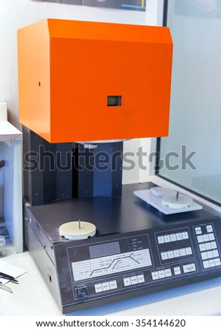MOSCOW. RUSSIA - MARCH 26, 2015: Ceramic furnace. Kiln ceramic dentures - stock photo