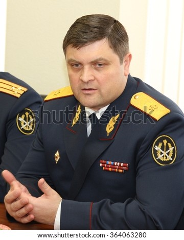 MOSCOW, RUSSIA - MARCH 12, 2013:First Deputy Director of Federal service for execution of punishment, Anatoly Rudyi.