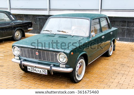MOSCOW, RUSSIA - MARCH 8, 2015: Motor car VAZ 2101 Zhiguli in the city street.