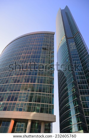 MOSCOW, RUSSIA- NOVEMBER 24, 2014: Skyscrapers of the International Business Center (City), Moscow, Russia